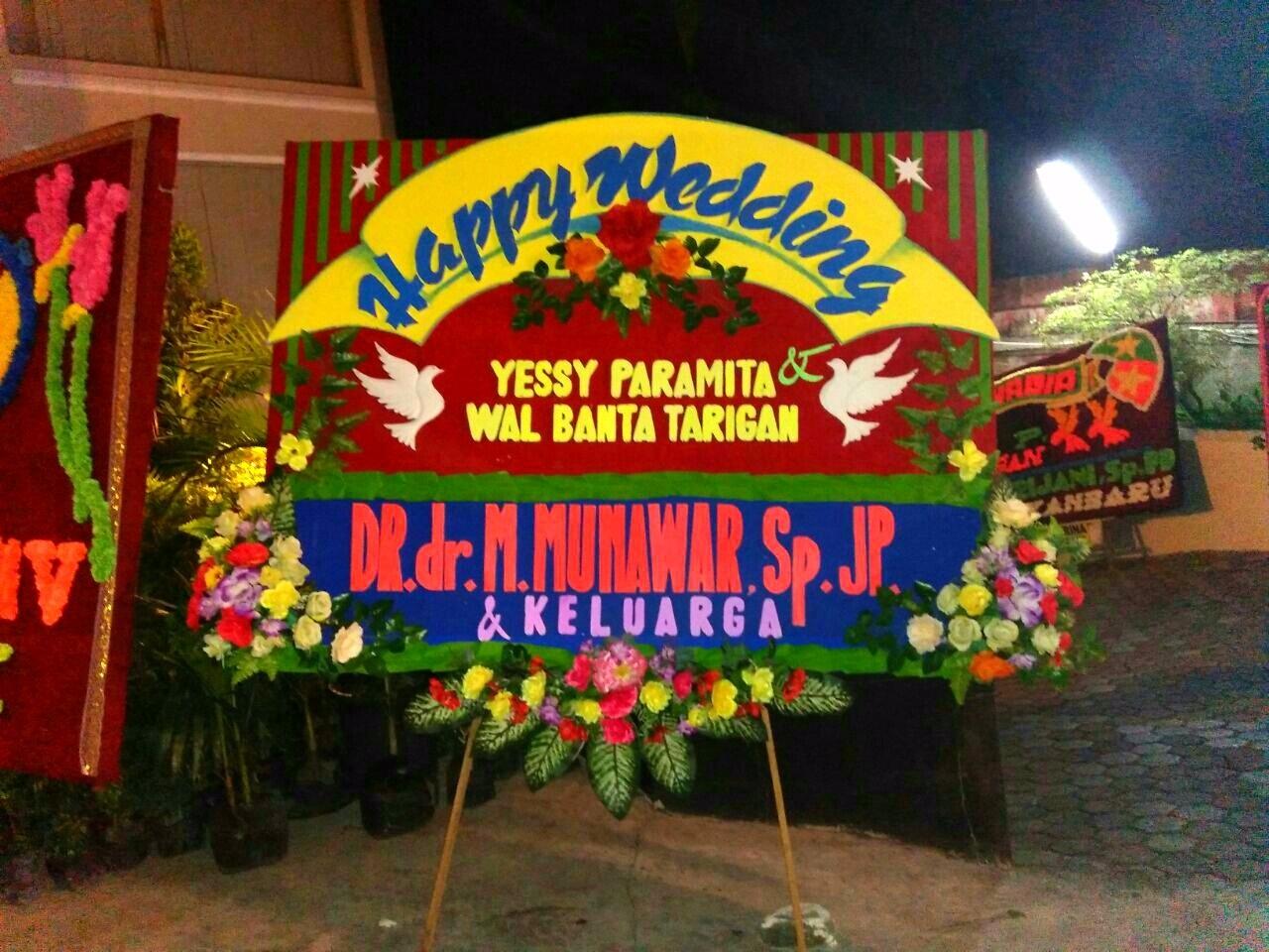 Bunga Papan Jogja - Bunga ucapan wedding pekanbaru
